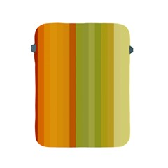 Colorful Citrus Colors Striped Background Wallpaper Apple iPad 2/3/4 Protective Soft Cases