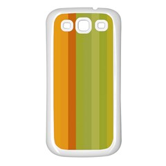 Colorful Citrus Colors Striped Background Wallpaper Samsung Galaxy S3 Back Case (White)