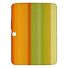 Colorful Citrus Colors Striped Background Wallpaper Samsung Galaxy Tab 3 (10 1 ) P5200 Hardshell Case