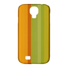 Colorful Citrus Colors Striped Background Wallpaper Samsung Galaxy S4 Classic Hardshell Case (PC+Silicone)