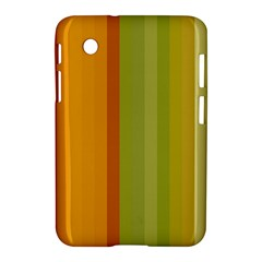 Colorful Citrus Colors Striped Background Wallpaper Samsung Galaxy Tab 2 (7 ) P3100 Hardshell Case