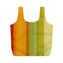 Colorful Citrus Colors Striped Background Wallpaper Full Print Recycle Bags (m)