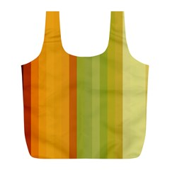 Colorful Citrus Colors Striped Background Wallpaper Full Print Recycle Bags (l)