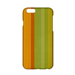 Colorful Citrus Colors Striped Background Wallpaper Apple iPhone 6/6S Hardshell Case