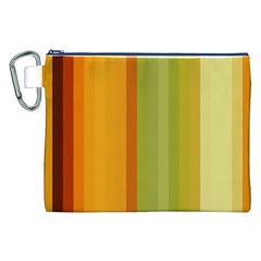 Colorful Citrus Colors Striped Background Wallpaper Canvas Cosmetic Bag (XXL)
