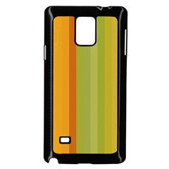 Colorful Citrus Colors Striped Background Wallpaper Samsung Galaxy Note 4 Case (Black)