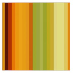 Colorful Citrus Colors Striped Background Wallpaper Large Satin Scarf (Square)
