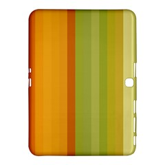Colorful Citrus Colors Striped Background Wallpaper Samsung Galaxy Tab 4 (10.1 ) Hardshell Case
