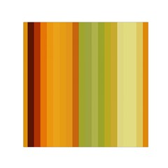 Colorful Citrus Colors Striped Background Wallpaper Small Satin Scarf (Square)