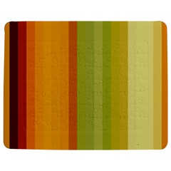 Colorful Citrus Colors Striped Background Wallpaper Jigsaw Puzzle Photo Stand (Rectangular)
