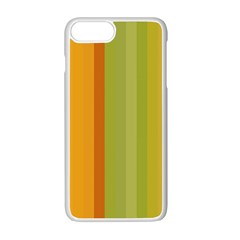 Colorful Citrus Colors Striped Background Wallpaper Apple Iphone 7 Plus White Seamless Case