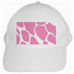 Baby Pink Girl Pattern Colorful Background White Cap