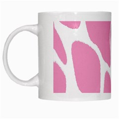 Baby Pink Girl Pattern Colorful Background White Mugs