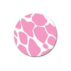 Baby Pink Girl Pattern Colorful Background Magnet 3  (Round)