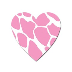 Baby Pink Girl Pattern Colorful Background Heart Magnet