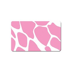 Baby Pink Girl Pattern Colorful Background Magnet (Name Card)