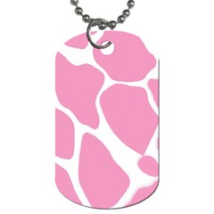 Baby Pink Girl Pattern Colorful Background Dog Tag (one Side)