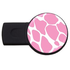 Baby Pink Girl Pattern Colorful Background Usb Flash Drive Round (2 Gb)