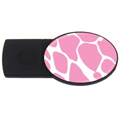 Baby Pink Girl Pattern Colorful Background USB Flash Drive Oval (1 GB)