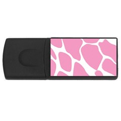 Baby Pink Girl Pattern Colorful Background USB Flash Drive Rectangular (1 GB)