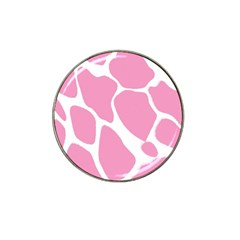 Baby Pink Girl Pattern Colorful Background Hat Clip Ball Marker (4 Pack)
