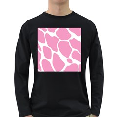 Baby Pink Girl Pattern Colorful Background Long Sleeve Dark T-Shirts