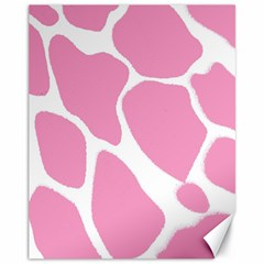 Baby Pink Girl Pattern Colorful Background Canvas 11  X 14