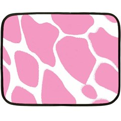 Baby Pink Girl Pattern Colorful Background Double Sided Fleece Blanket (mini)