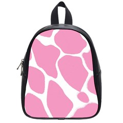 Baby Pink Girl Pattern Colorful Background School Bags (small)