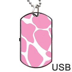 Baby Pink Girl Pattern Colorful Background Dog Tag USB Flash (Two Sides)