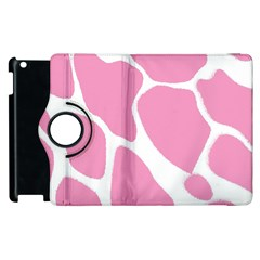 Baby Pink Girl Pattern Colorful Background Apple iPad 3/4 Flip 360 Case