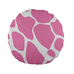 Baby Pink Girl Pattern Colorful Background Standard 15  Premium Round Cushions