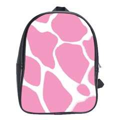 Baby Pink Girl Pattern Colorful Background School Bags (XL)