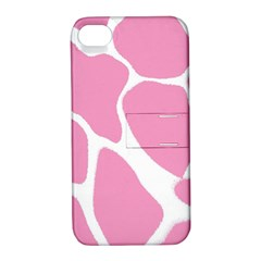 Baby Pink Girl Pattern Colorful Background Apple iPhone 4/4S Hardshell Case with Stand