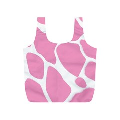 Baby Pink Girl Pattern Colorful Background Full Print Recycle Bags (S)