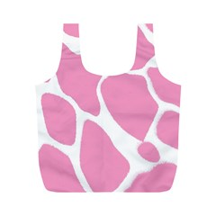 Baby Pink Girl Pattern Colorful Background Full Print Recycle Bags (M)