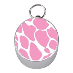 Baby Pink Girl Pattern Colorful Background Mini Silver Compasses
