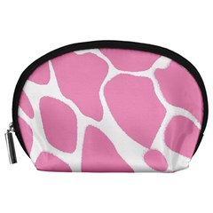 Baby Pink Girl Pattern Colorful Background Accessory Pouches (Large)