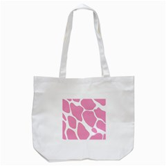 Baby Pink Girl Pattern Colorful Background Tote Bag (White)