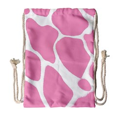 Baby Pink Girl Pattern Colorful Background Drawstring Bag (Large)