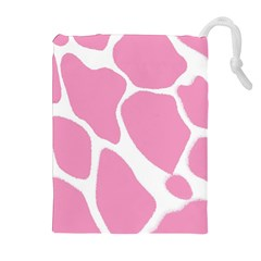 Baby Pink Girl Pattern Colorful Background Drawstring Pouches (Extra Large)