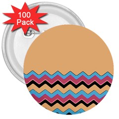 Chevrons Patterns Colorful Stripes Background Art Digital 3  Buttons (100 Pack)