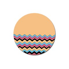 Chevrons Patterns Colorful Stripes Background Art Digital Magnet 3  (Round)