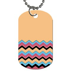 Chevrons Patterns Colorful Stripes Background Art Digital Dog Tag (Two Sides)