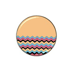 Chevrons Patterns Colorful Stripes Background Art Digital Hat Clip Ball Marker (10 pack)