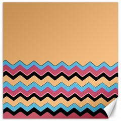 Chevrons Patterns Colorful Stripes Background Art Digital Canvas 16  X 16
