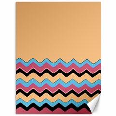Chevrons Patterns Colorful Stripes Background Art Digital Canvas 36  X 48