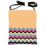 Chevrons Patterns Colorful Stripes Background Art Digital Shoulder Sling Bags Front