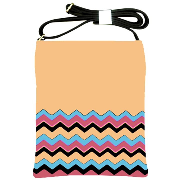 Chevrons Patterns Colorful Stripes Background Art Digital Shoulder Sling Bags