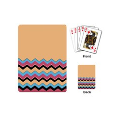 Chevrons Patterns Colorful Stripes Background Art Digital Playing Cards (mini)